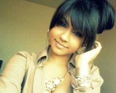 This is my goal for my bangs.... Slowly getting there.