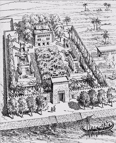 Ancient Egyptian garden designs and garden living. Life In Ancient Egypt, Old Egypt, Ancient History, Landscape Architecture, Landscape Design, Garden Design, Roman Garden, Garden Living, Egyptian Art