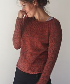 Ravelry: Project Gallery for Moxie Pullover pattern by Amy Christoffers
