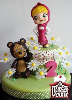 Masha and little Bear - Masha e Orsetto - Cake by Tiziana Benvegna