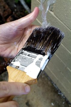 How to Clean Brushes Used With Glue | teach art | Cleaning