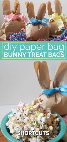 Giving a fun spring gift has never been so easy! These DIY Paper Bag Bunny Treat Bags are not only simple to make but affordable too!