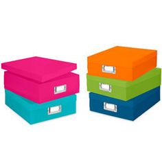 I've recently purchased this item and I love it! - colorful polypropylene plastic document boxes comes in 5 different colors