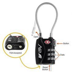 TSA Approved Luggage Travel Lock 2 Pack