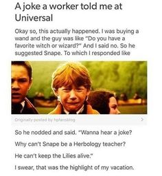 Harry Potter has given the world,a source of puns and memes. A post to bring to you some the 'funniest' from the world of Harry Potter. Harry Potter Puns, Harry Potter Universal, Harry Potter World, Gina Weasley, Weasley Twins, No Muggles, Yer A Wizard Harry, The Marauders, Film Serie