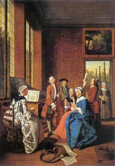 TICMUSart: Concert in an Interior - Jan Jozef II Horemans (17... (I. M.)