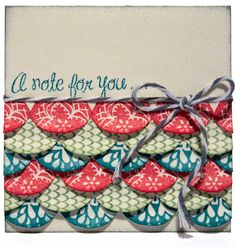 Cute card idea using a border stamp set. #CTMH