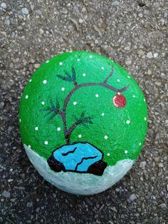 Charlie Brown rock painting