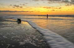 Zonsondergang op het strand van Texel 2 / Sunset on the beach of Texel 2 Website: http://justinsinner.nl  Webshop: http://justinsinner.werkaandemuur.nl/nl