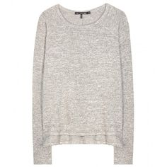 Rag & Bone Camden Sweater (€140) ❤ liked on Polyvore featuring tops, sweaters, shirts, jumpers, grey, gray top, grey top, shirt tops, gray sweater and rag bone shirt