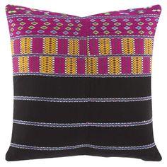 John Robshaw Textiles - Laos Embroidered 680 - Souk Pillows - souk