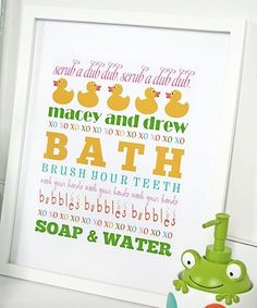 Cute for kids' bathroom!