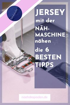 Jersey mit der Nähmaschine nähen: Die 6 besten Tipps You want to sew a jersey project and do not have an overlock yet? Here are 6 tips on how to sew jersey and other stretchy material with the sewing machine. Sewing Projects For Beginners, Knitting For Beginners, Knitting Projects, Sewing Hacks, Sewing Tutorials, Sewing Tips, No Sew Cape, How To Start Knitting, Clothing Hacks