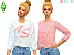 Cute crop sweater for your sim!  Found in TSR Category 'Sims 4 Female Everyday'