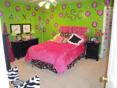 teen girls bedroom ideas pink and green | Pink and Green , Teen girl's room, Girls' Rooms Design