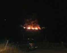 Fiamme e nubi nere: incendio alle porte di Chieti