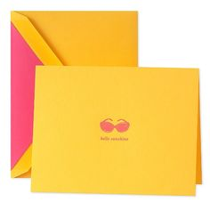"To write letters home, Kate Spade stationery ""Hello Sunshine"" #ridecolorfully"