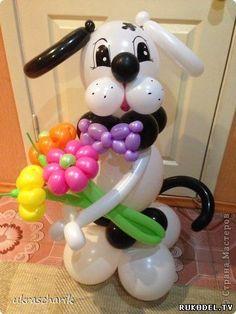 Собака из шаров, мастер класс - Поделки из шаров - Аэродизайн (Твистинг) - Каталог статей - Рукодел.TV