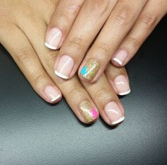 My beaut gender reveal nails