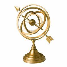 Harbor House 美式家居 书房/客厅 精美摆饰 铜制地球仪 101768-tmall.com天猫