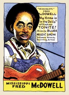 Cartoon Portraits of Legendary Blues Artists by William Stout