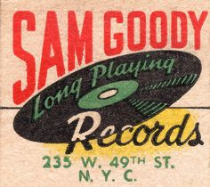 Sam Goody Long Playing Records, 235 W. 49th Street, NYC