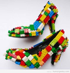 Funny for women geeks | Lego Heels | From Humor Geeky