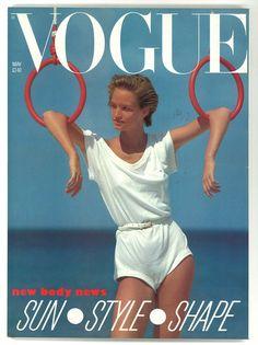 Vogue UK May 1983 British Original Vintage Magazine Gift Present Bonnie Berman Sports Magazine Covers, Vogue Editorial, Pose Reference Photo, Original Vintage, Vogue Covers, Vogue Uk, Workout Aesthetic, Vogue Magazine, Aesthetic Vintage