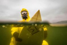Hazmat surfing imagines a depressing future with polluted oceans