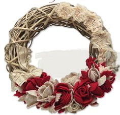 #ClippedOnIssuu desde LA BOTTEGA DI ELISA Textiles, Diy Projects To Try, Burlap Wreath, Spring Time, Merry Christmas, Shabby, Handmade, Crafts, Ideas