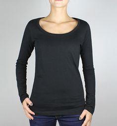 Sheila - Langarmshirt aus Bio-Baumwolle - schwarz