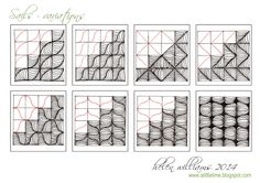 zentangle patterns instructions - Google Search