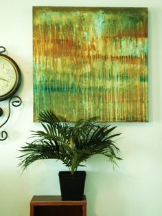 love the green in this abstract painting!