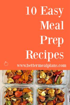 With this list of easy meal prep recipes, you'll find delicious and healthy options for breakfast, lunch, and dinner. Paleo Diet Meal Plan, Paleo Menu, Vegetarian Meal Prep, Vegetarian Breakfast, Healthy Meal Prep, Real Food Recipes, Vegetarian Recipes, Health Recipes, Easy Meal Prep
