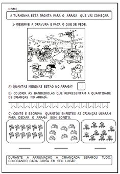 40 Atividades matemáticas: Festa junina Professor, Gabriel, Class Activities, Kids Activity Ideas, Math Word Problems, Classroom, Teacher, Archangel Gabriel