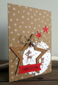 Simpel snel kerstkaartje (BloGbloM)