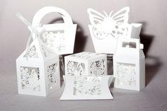 Mariposa linterna Favor caja o caja de regalo: SVG por bypixiedust