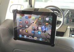 The Tablet Caddy is a universal mount for iPads or Tablets. It can be used as a holder, a stand, a tripod mount, a headrest mount, a microphone mount and more. It is also comes in a size for mini iPads or smaller tablets. They also have other mounting solutions and phone and tablet accessories.