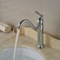 52.85$  Buy now - http://alivld.shopchina.info/go.php?t=32579105782 - Single Handle Bathroom Basin Sink Faucet Deck Mount Brass Chrome Washroom  Hot Cold Mixer Taps 52.85$ #buyonline