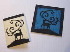 Hand Printed Christmas Cards by Linda Byrne, via Behance