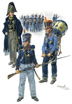 French; Imperial Guard, Marine Battalion, Tenue de Campagne, by P. Courcelle.
