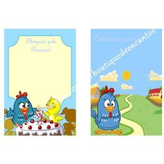 Revista para colorir com capa colorida e 12 páginas de atividades Tema: Galinha Pintadinha  EMAIL: boutiquedeencantos@gmail.com