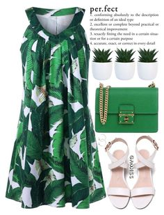 """you deserve to be happy"" by exco ❤ liked on Polyvore featuring Dolce&Gabbana, clean, dress, leaves, organized and gamiss"