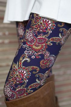 Navy/Red Paisley Leggings - IF Vivian (my SF stylist) sends a poncho sweater, I'll have to invest in some funky leggings to go with!