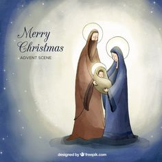 Discover thousands of copyright-free vectors. Graphic resources for personal and commercial use. Thousands of new files uploaded daily. Christmas Mood, Christmas Nativity, Christmas Wishes, Merry Christmas, Illustration Noel, Christmas Illustration, Christmas Images Free, Christmas Drawing, Watercolor Christmas