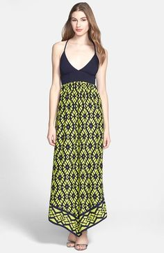 ALICE & TRIXIE 'Dara' Jersey & Silk Charmeuse Maxi Dress available at #Nordstrom