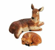 Nature Woodlands Deer and Fawn Salt & Pepper Shaker S/P Set by Downeast Concepts. $14.63. Measures 3 inches x 4 3/4 inches. Gift boxed. Made of hand painted ceramic. One of the cutest salt and pepper sets available anywhere! A definite must-have for the kitchen gourmet. This set is sure to brighten up your kitchen table, shelves or countertop. Cooks and collectors will delight in owning this fun loving set. A welcome gift to give or receive, helping to make special ...