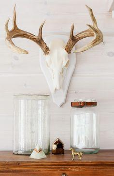 deer sheds, peuran sarvet, copper horse, isot lasipurkit, riihimäen lasi, narupurkki