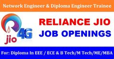 Function/Business Area :Engineering & Technology Location :Hyderabad Education Requirement :Diploma in Electronics & Telecommunications/ Electrical (optional) Experience Requirement :1 – 4 Years  Diploma Engineer Trainee Job Responsibilities :  1. Site RFI ( Ready for...