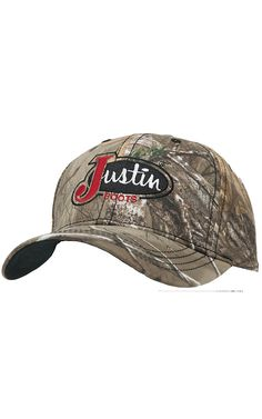 Justin Boots® Realtree Camo with Embroidered Logo Cap